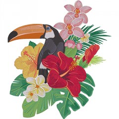 TUCANO WITH FLOWERS 1