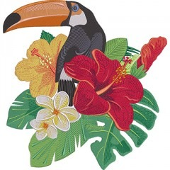 TUCANO WITH FLOWERS 2