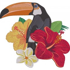 TUCANO WITH FLOWERS 4
