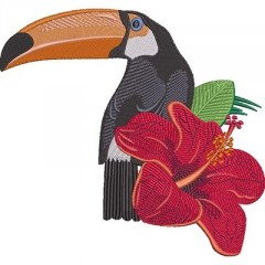 TUCANO WITH FLOWERS 5