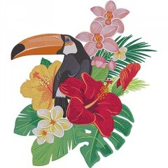 TUCANO WITH FLOWERS 6