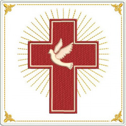 EMBROIDERED ALTAR CLOTHS  CROSS WITH DIVINE