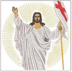 EMBROIDERED ALTAR CLOTHS JESUS RISEN 206
