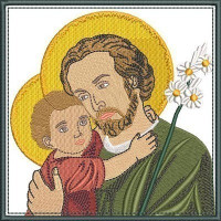5 EMBROIDERED ALTAR CLOTHS SAINT JOSEPH 231