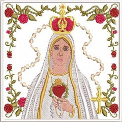 EMBROIDERED ALTAR CLOTHS OUR LADY OF FATIMA 252