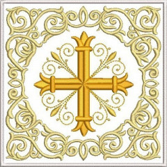 EMBROIDERED ALTAR CLOTHS CROSS 254