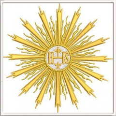 EMBROIDERED ALTAR CLOTHS CONSECRATED HOST 291