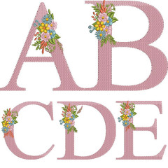 INITIAL ALPHABET 15 CM WITH FLOWERS