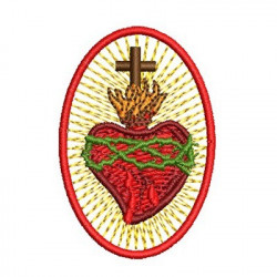 SACRED HEART 6 CM PATCH