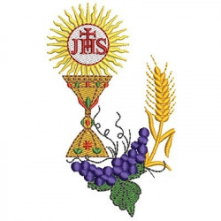 CONSECRATED HOST WITH WHEAT AND GRAPES 2