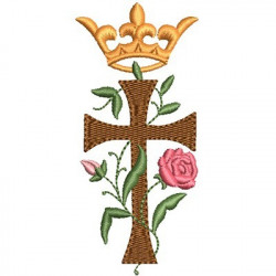 CROSS WITH ROSE AND CROWN