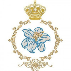 40 CM LILY MEDAL WITH CROWN