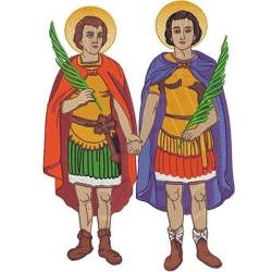 COSMAS AND DAMIAN 28 CM