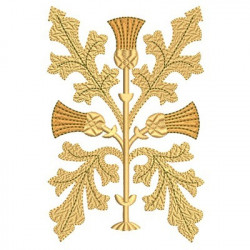 GOLDEN EMBROIDERY LEAF 1