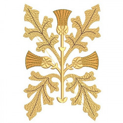 GOLDEN EMBROIDERY LEAF 2