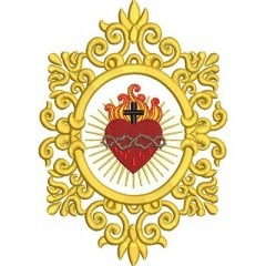 DECORATED FRAME SACRED HEART OF JESUS