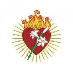 CHASTE HEART OF JESUS 7 CM