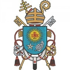 SHIELD OF HIS HOLINESS POPE FRANCIS 20 CM