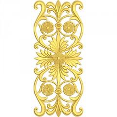 GOLDEN VERTICAL WITH CROSS 30 CM