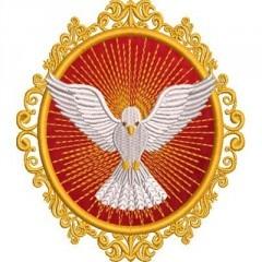 DIVINE MEDAL HOLY SPIRIT 12 CM