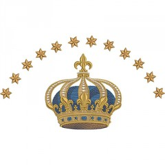 CROWN WITH 12 STARS 26 CM