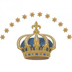 CROWN WITH 12 STARS 30 CM