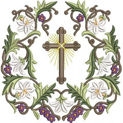 ARABESQUE OF LILIES AND CROSS 2