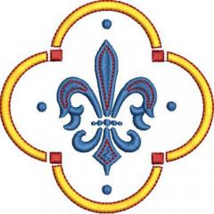 FRAME WITH FLEUR DE LIS