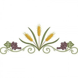 EMBROIDERY 30 CM WHEAT WITH GRAPES