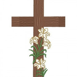 LARGE CROSS WITH LILIES