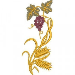 GRAPES AND WHEAT 19 CM