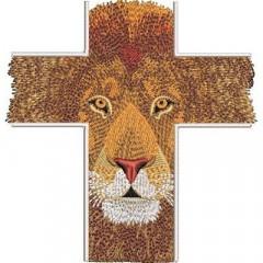 CROSS IN LION FORMAT