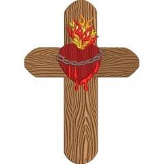CROSS SACRED HEART OF JESUS