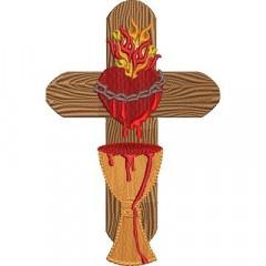 CROSS SACRED HEART OF JESUS 3