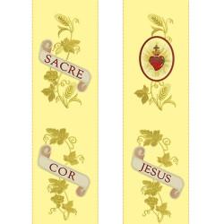 JUEGO DOBLE PARA GALLON SACRE COLOR JESUS 2