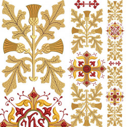 DECORATED GALLERY CROSS SET 137