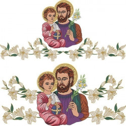 LILIES AND SAINT JOSEPH ALTAR TOWEL SET 165