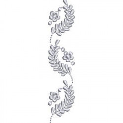 LINE OF 3 FLOWERS BRANCHES