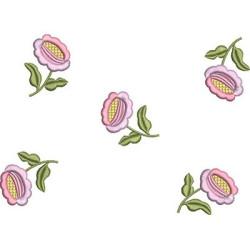 LINE OF LOOSE FLOWERS