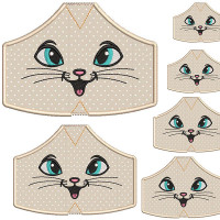 6 MASKS OF PROTECTION FROM XS TO XXL KITTEN