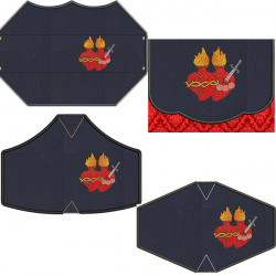 KIT BAG + 4 MASKS SACRED AND IMMACULATE HEART
