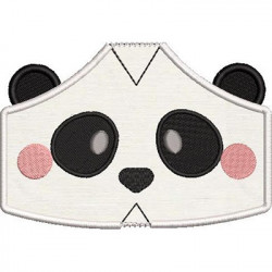 2 CHILDREN'S MASKS PANDA WITH EMBROIDERED FINISHES