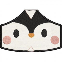 2 CHILDREN'S MASKS PENGUIN WITH EMBROIDERED FINISHES