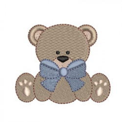 BEAR WITH LARGE TIE