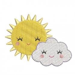 SUN AND HAPPY CLOUDS