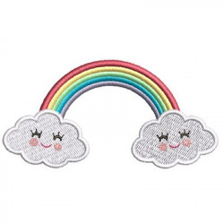 CUTE WITH CLOUDS RAINBOW 2