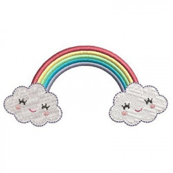 CUTE WITH CLOUDS RAINBOW 3