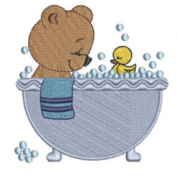 BEAR IN THE BATH