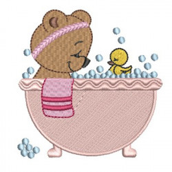 GIRL BEAR IN BATH