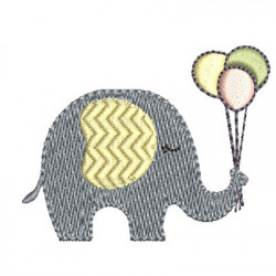 ELEPHANT WITH BALLOONS 4